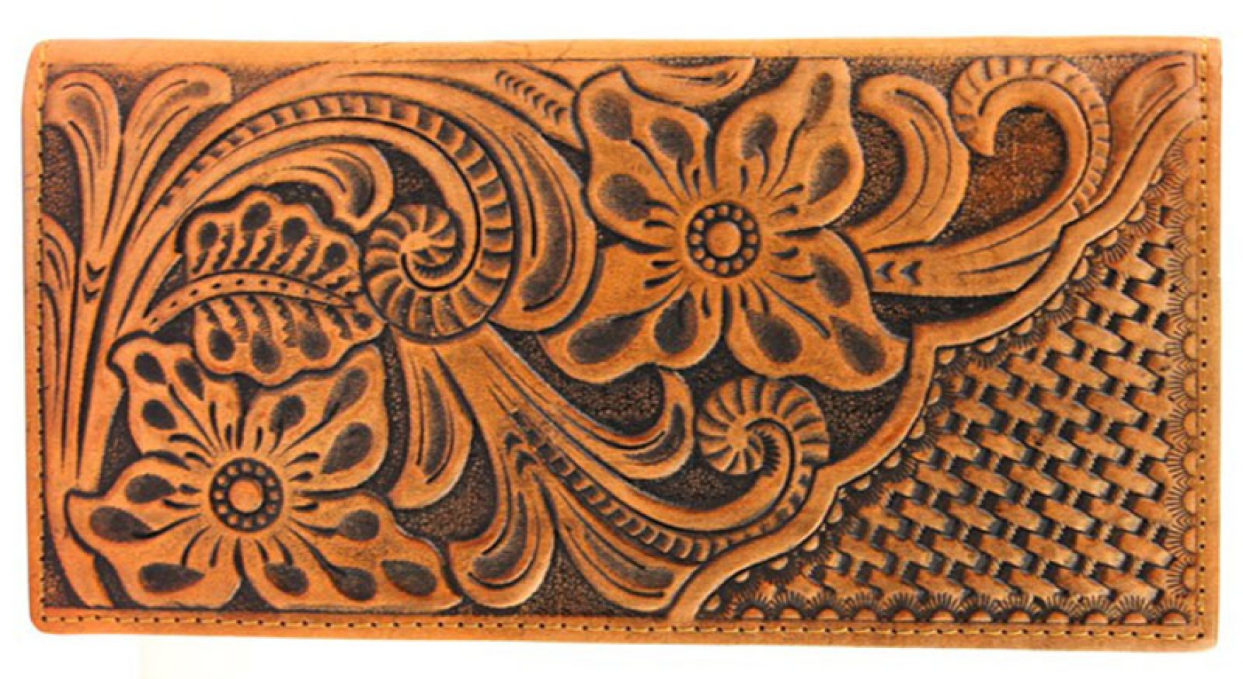 Floral Tooled Rodeo Wallet Cattle Kate