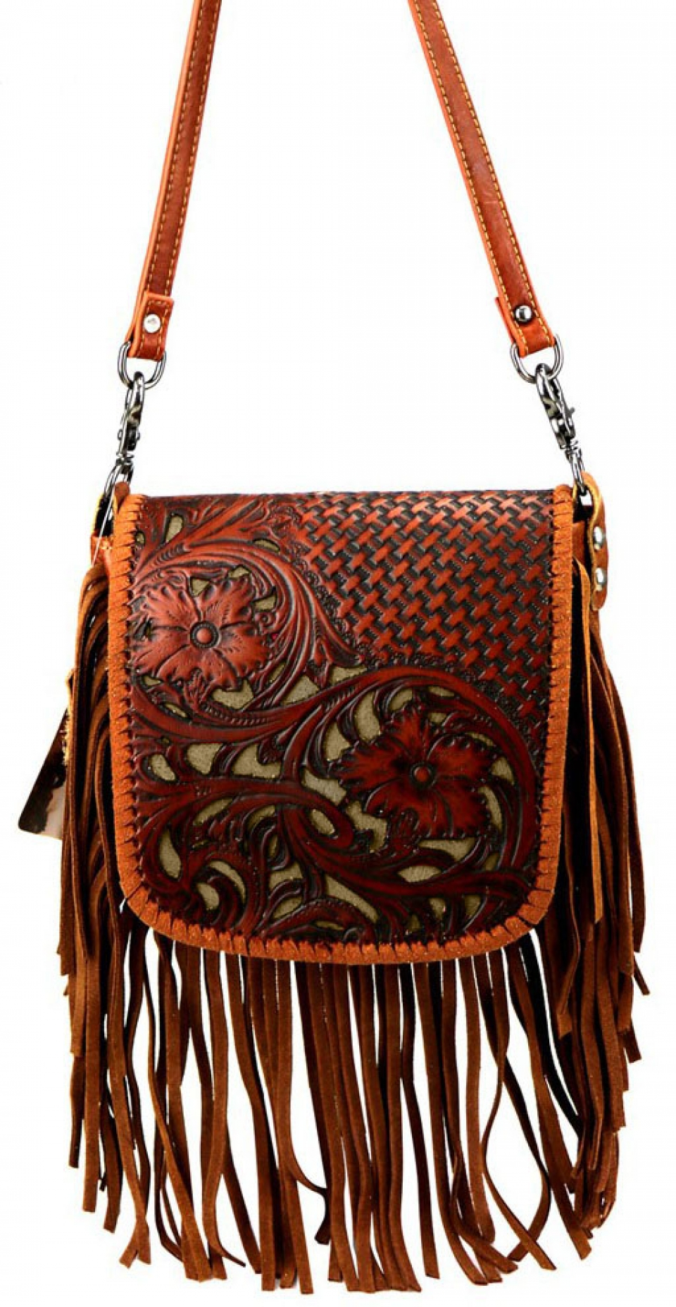 Inlay Tooled Leather Purse