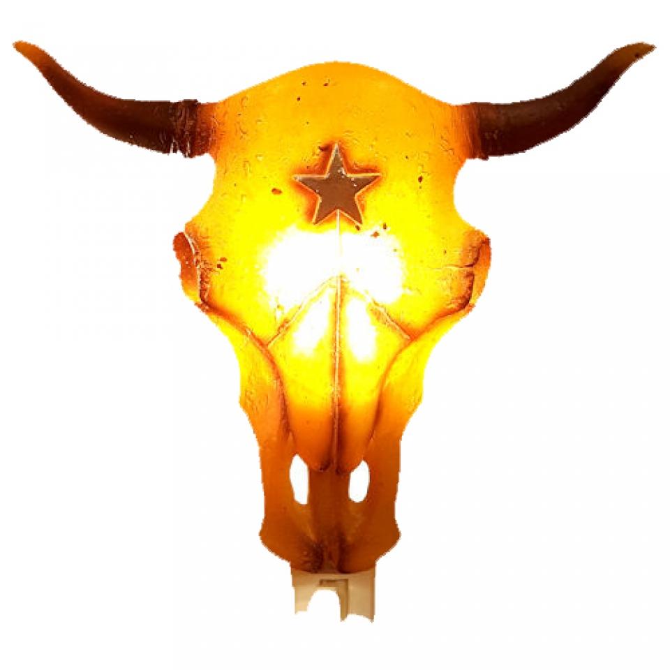 Western Cow Skull Night Light - Cattle Kate